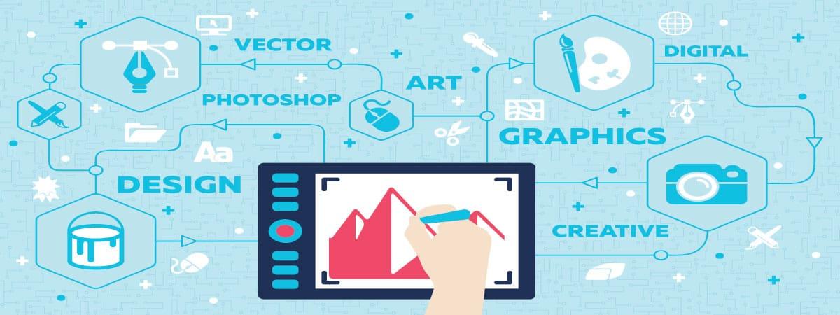 יד מציירת גרפים במסך